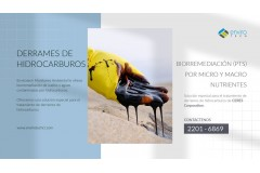 Biorremediación: Contaminación por Derrame de Hidrocarburos