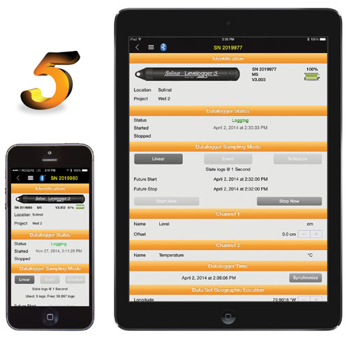 App Interface Levelogger 5